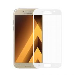 Folie Samsung Galaxy A5 (2017) Meleovo Sticla 3D Defense Curved White (3D, 9H, oleophobic)