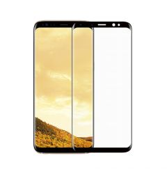 Folie Samsung Galaxy S8 Plus G955 Meleovo Sticla 3D Defense Curved Black (3D, 9H, oleophobic)