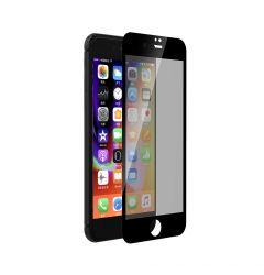 Folie iPhone 8 / 7 Devia Sticla Privacy Full Black (0.26mm, 9H)