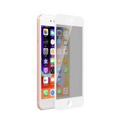 Folie iPhone 8 / 7 Devia Sticla Privacy Full White (0.26mm, 9H)