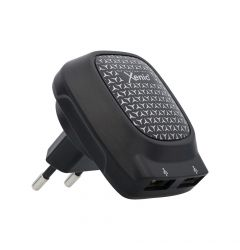 Incarcator Retea 3.1A Xenic Dual USB Black (max total 3.1A, max single port 2.4A, led indicator)