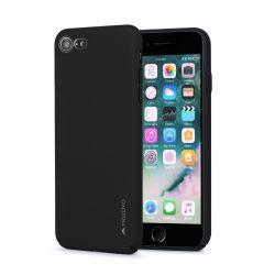 Carcasa iPhone SE 2020 / 8 / 7 Meleovo Metallic Slim 360 Black (culoare metalizata fina)