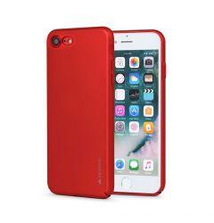 Carcasa iPhone SE 2020 / 8 / 7 Meleovo Metallic Slim 360 Red (culoare metalizata fina)