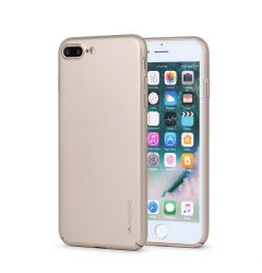 Carcasa iPhone 8 Plus / 7 Plus Meleovo Metallic Slim 360 Gold (culoare metalizata fina)