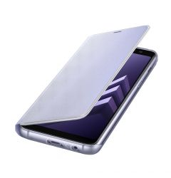 Husa Samsung Galaxy A8 (2018) Samsung Neon Flip Cover Orchid Gray