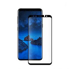 Folie Samsung Galaxy S9 G960 Eiger Sticla 3D Case Friendly Clear Black (0.33mm, 9H, curved, oleophob