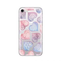 Husa iPhone SE 2020 / 8 / 7 Lemontti Silicon Art Hearts
