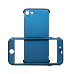 Carcasa iPhone SE 2020 / 8 / 7 Just Must Defense 360 Navy (3 piese: protectie spate, protectie fata,