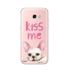 Husa Samsung Galaxy A5 (2017) Lemontti Silicon Art Pug Kiss