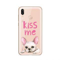 Husa Huawei P20 Lite Lemontti Silicon Art Pug Kiss