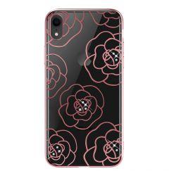 Carcasa iPhone XR Devia Camellia Rose Gold