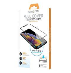 Folie iPhone XS Lemontti Sticla Full Fit Black (1 fata, 9H, 0.33mm)