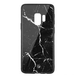 Carcasa Sticla Samsung Galaxy S9 G960 Just Must Glass Print Black Marble