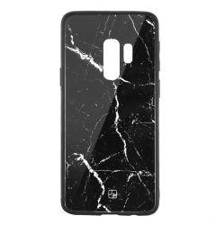 Carcasa Sticla Samsung Galaxy S9 Plus G965 Just Must Glass Print Black Marble