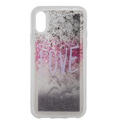 Carcasa iPhone XS / X Lemontti Liquid Sand Love