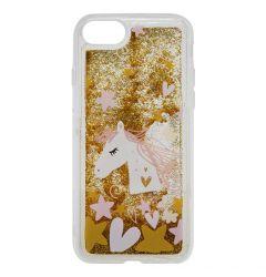 Carcasa iPhone SE 2020 / 8 / 7 Lemontti Liquid Sand Unicorn Glitter