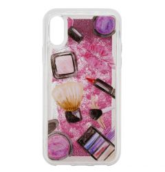 Carcasa iPhone XS / X Lemontti Liquid Sand Makeup Glitter