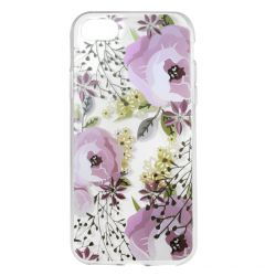 Husa iPhone SE 2020 / 8 / 7 Lemontti Silicon Art Flowers