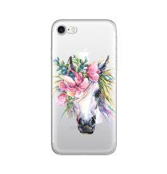 Husa iPhone SE 2020 / 8 / 7 Lemontti Silicon Art Watercolor Unicorn