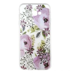 Husa Samsung Galaxy J4 Plus Lemontti Silicon Art Flowers