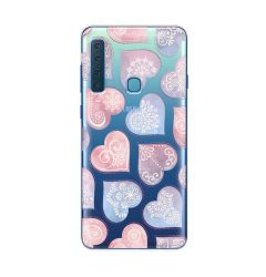 Husa Samsung Galaxy A9 (2018) Lemontti Silicon Art Hearts