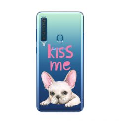 Husa Samsung Galaxy A9 (2018) Lemontti Silicon Art Pug Kiss