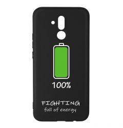 Husa Huawei Mate 20 Lite Lemontti Silicon Black Silky Art 100% Fighting