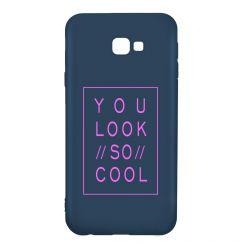 Husa Samsung Galaxy J4 Plus Lemontti Silicon Blue Silky Art You Look So Cool Magenta