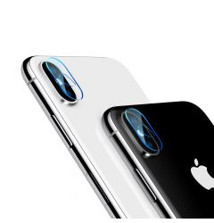 Folie iPhone X / XS / XS Max Baseus Sticla Camera Lens Transparent