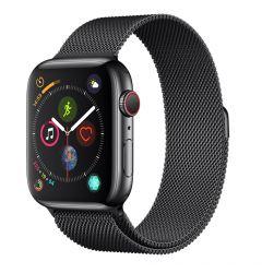 Curea Apple Watch 4 38mm / 40mm Devia Elegant Series Milanese Loop Space Black