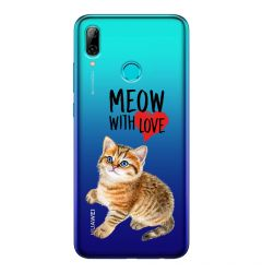 Husa Huawei P Smart (2019) Lemontti Silicon Art Meow With Love