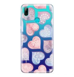 Husa Huawei P Smart (2019) Lemontti Silicon Art Hearts