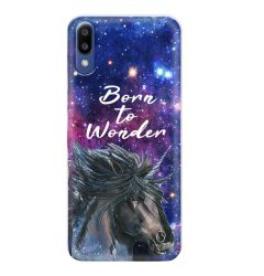 Husa Samsung Galaxy M10 Lemontti Silicon Art Born To Wonder