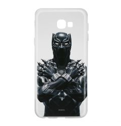 Husa Samsung Galaxy J4 Plus Marvel Silicon Black Panther 012 Clear
