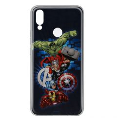 Husa Huawei P Smart (2019) / Honor 10 Lite Marvel Silicon Avengers 001 Navy Blue