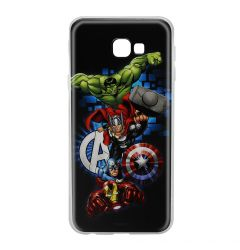 Husa Samsung Galaxy J4 Plus Marvel Silicon Avengers 001 Navy Blue