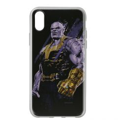 Husa iPhone X Marvel Silicon Thanos 003 Black