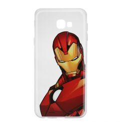 Husa Samsung Galaxy J4 Plus Marvel Silicon Iron Man 005 Clear