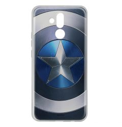 Husa Huawei Mate 20 Lite Marvel Silicon Captain America 005 Blue