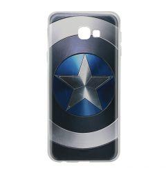 Husa Samsung Galaxy J4 Plus Marvel Silicon Captain America 005 Blue