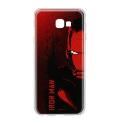 Husa Samsung Galaxy J4 Plus Marvel Silicon Iron Man 004 Red
