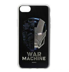 Husa iPhone SE 2020 / 8 / 7 Marvel Silicon War Machine 001 Silver