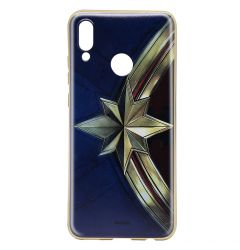 Husa Huawei P20 Lite Marvel Silicon Captain Marvel 001 Gold