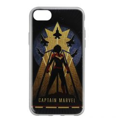 Husa iPhone SE 2020 / 8 / 7 Marvel Silicon Captain Marvel 002 Navy Blue