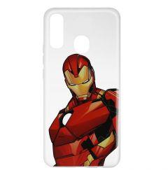 Husa Samsung Galaxy A20e Marvel Silicon Iron Man 005 Clear