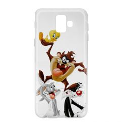 Husa Samsung Galaxy J6 Plus Looney Tunes Silicon Looney Tunes 001 Clear