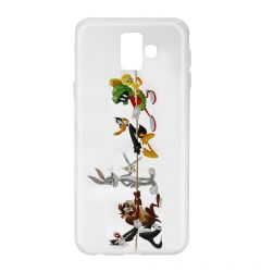 Husa Samsung Galaxy J6 Plus Looney Tunes Silicon Looney Tunes 009 Clear