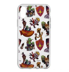 Husa iPhone X Marvel Silicon Guardians of the Galaxy 007 Clear