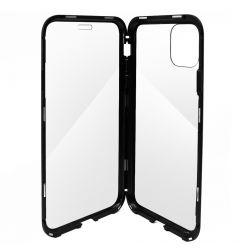 Carcasa iPhone 11 Pro Meleovo Magnetica Dual Glass Black