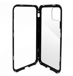 Carcasa iPhone 11 Pro Max Meleovo Magnetica Dual Glass Black